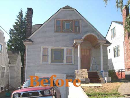 before exterior house painting