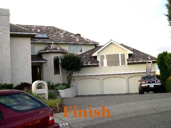 Exterior house painting finish