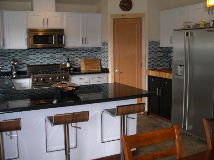 Duval black and white cabinets