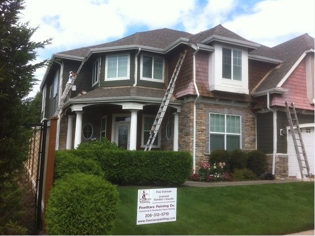 Exterior house painting process